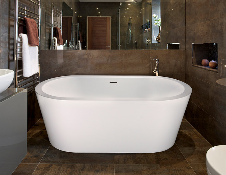 Ashley 6030 Side Drain Free Standing Soaker Tub Only - Size: 60\