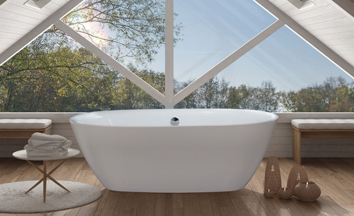"""Grace 67"""" x 32"""" Side Drain Free Standing Soaker Tub Only"""