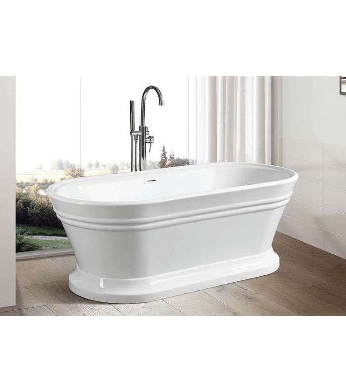 """Kimber 67"""" x 31"""" Free Standing Soaker Tub Only"""