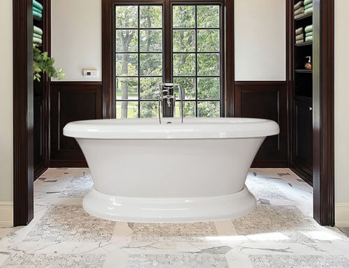 """Bello 79"""" x 39"""" Free Standing Pedestal Soaker Tub Only"""