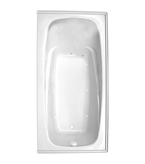 "Escape 72"" x 36"" Right Hand Silver Series Air Massage Bath"
