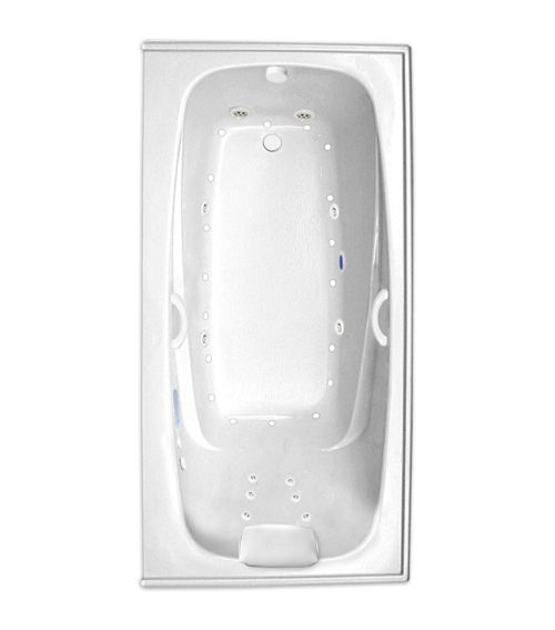 "Escape 66"" x 34"" Left Hand Gold Series Hydro and Air Massage Bath"