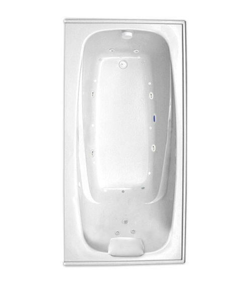 "Escape 66"" x 34"" Left Hand Silver Series Hydro and Air Massage Bath"