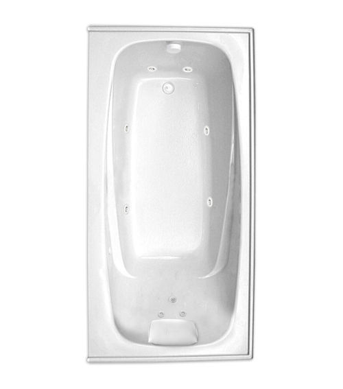 "Escape 66"" x 34"" Left Hand Silver Series Hydro Massage Bath"