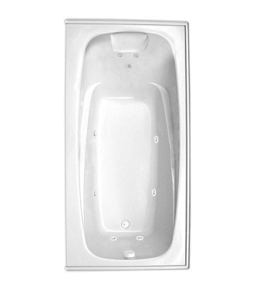 "Escape 72"" x 36"" Right Hand Silver Series Hydro Massage Bath"