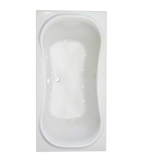 "Heavenly 72"" x 36"" Silver Series Air Massage Bath"