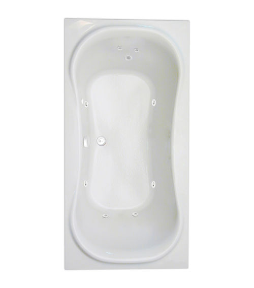 "Heavenly 72"" x 36"" Silver Series Hydro Massage Bath"