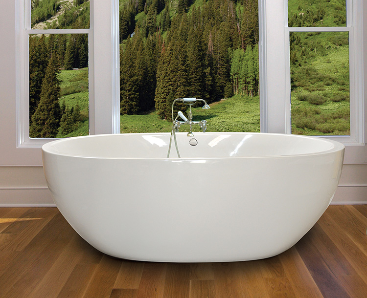 "Oasis 72"" x 40"" Free Standing Soaker Tub Only"