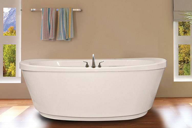 Ovale 6636cd Free Standing Heated Soaking Tub With Access Panel Size 66 X 36 25 Jets Two Circulation Ports One Inlet Outlet