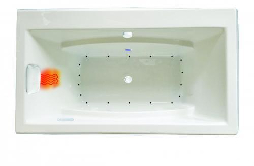"Reward 66"" x 36"" Gold Series Air Massage Bath"