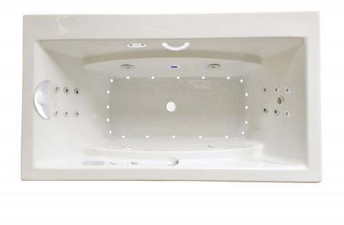 "Reward 66"" x 36"" Platinum Series Hydro and Air Massage Bath"