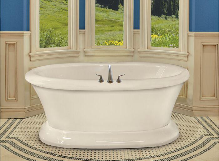 "Tahoe 72"" x 42"" Free Standing Pedestal 9 Jet Series Hydro Massage Bath w/ Access Panel"
