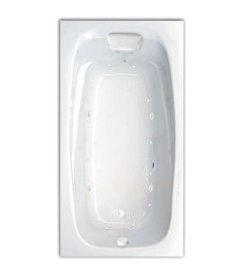 "Tranquility 60"" x 32"" Silver Series Hydro and Air Massage Bath"