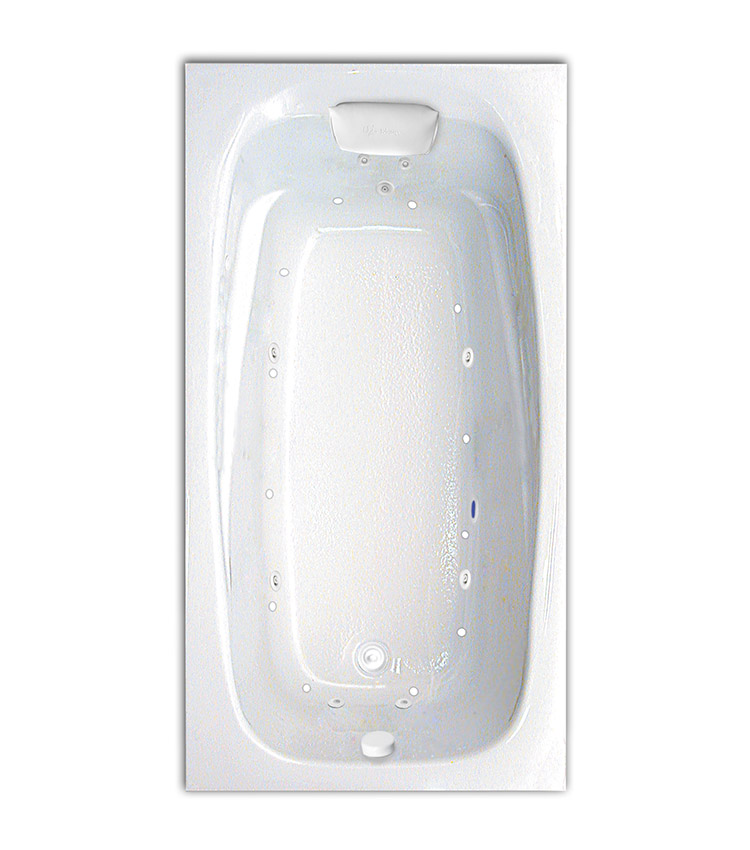 """Tranquility 60"""" x 32"""" Silver Series Hydro and Air Massage Bath"""