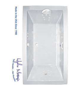 "Zen 66"" x 42"" Platinum Series Hydro Massage Bath"