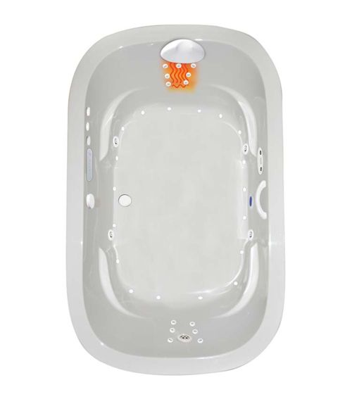 "Zen Oval 66"" x 42"" Platinum Series Hydro and Air Massage Bath"